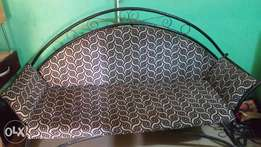 Three(3) seater iron chair for sale.