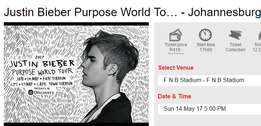 Justin Bieber Purpose World Tour - JHB FNB Stadium