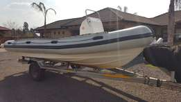 Buccanneer (23ft/7m) Wide rubber duck. Thermo welded pontoons.