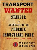 Transport WANTED: Stanger to Phoenix Industrial Park