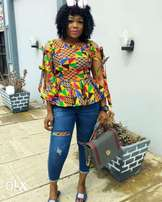 kente peplum top