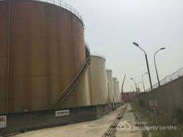 tank farms for sale at Ijegun sitelite town on 1 and half hectares of