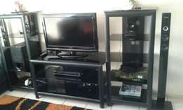 3 peace tv unit with home theater system for sale