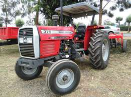 375 with 16 Disc Harrow,75Horse Power,Perkins Engine,Warranty,Plough