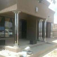 Stainless pillar covers and gutters