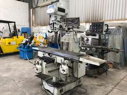 Milling Machine, Turret Mill, 5HP, Variable Speed Head, 3 Axis D.R.O S