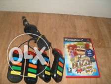 ps2- ps3 buzz game + buzz controlers can be sold seperately