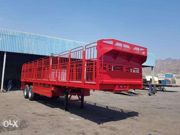flat bed trailers with omani grill 5 feet and 12R24.00 tyres