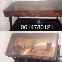 African animal art table