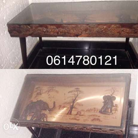African animal art table Bedfordview - image 1