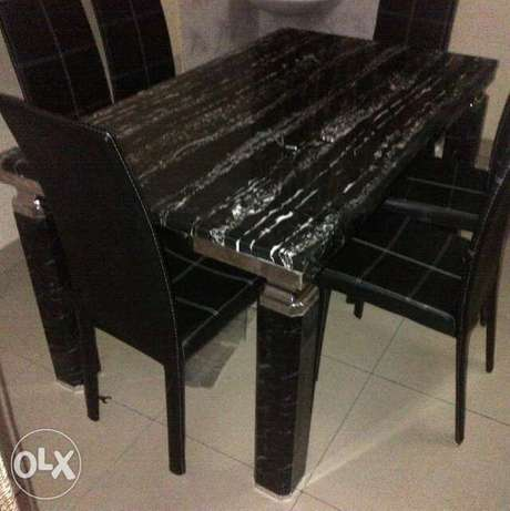998 marble by six with six chairs Ojo - image 1