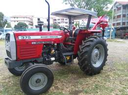 Mf 375 with a Post Hole Digger,75 Horses Power,Perkins Engine,Warrant