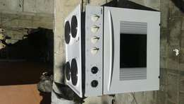 Samet oven and hob 600 in mint condition working 100percent