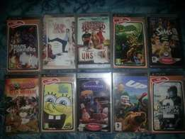 8 PSP games and 2 movies