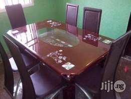 Durable Brown Dining Table & Chairs