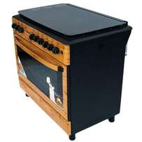 gas cooker free standing , Wood finish color