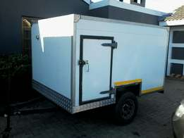 Cold Box on trailer for sale. R20 000