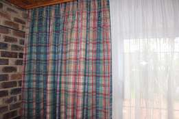 Four Extra length curtains for sale