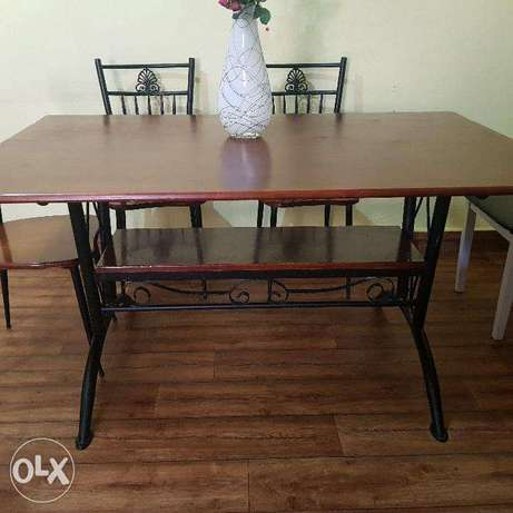 Dinning Table 6 seater Wooden & Steel frame Made in Malaysia