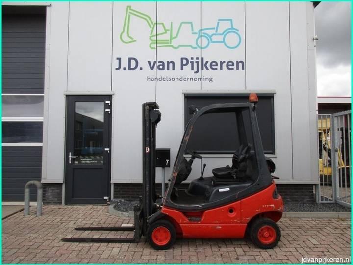 Linde H16T-03 1.6t LPG triplex freelift + 3x hydrauliek! - 2000