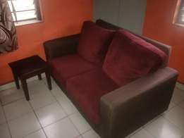 2 sitter Cushion Chair with side stool