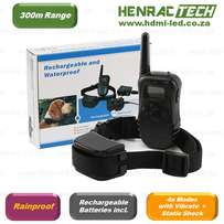 Dog Training Collar + remote, 300m, rechargeable, vibrate + shock