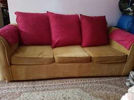 Sofa 7 seater plus free matching curtains