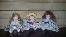 Collectible small porcelain dolls