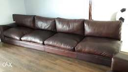 11 seater kudu leather couches