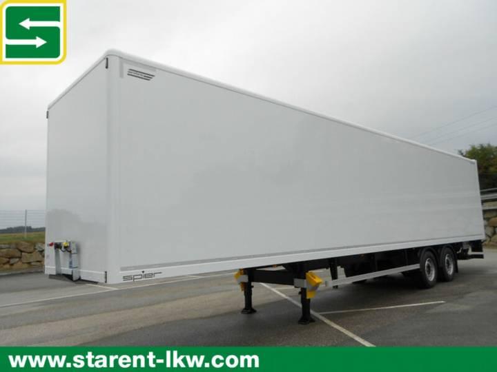 Spier 2 Achs Plywood Koffertrailer, 2t. LBW, SAF - 2018