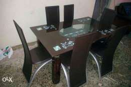 Dining table with chairs (Glass 6098)