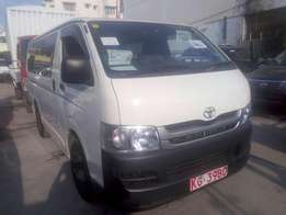 Toyota Have Automatic diesel two wheel drive 2012model Kcp number