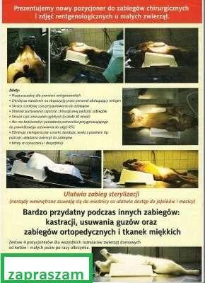 Zaktualizowano POZYCJONER do zabiegów chirurgicznych i zdjęć RTG zwierząt UP23