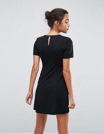 e3510043d016 ASOS czarna sukienka z koronka wiązana gorset M Bydgoszcz - image 3