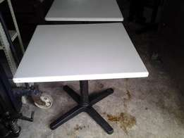used high quality white and black resturant tables