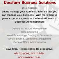 Rossfam Business Solutions - Business Administrative Consultant Pmb