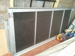 Glass wardrobe sliding doors