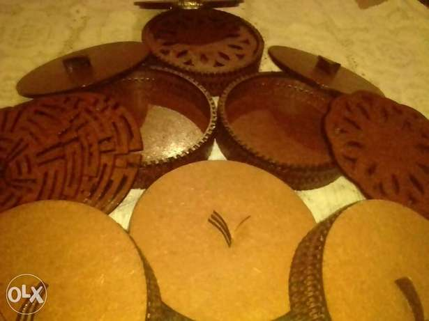 Wooden dish, plate and cup coasters. Nakuru East - image 1