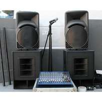 Public Address/Music system For Hire 200k