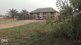 3bedroom of 4flat on 2500sqm at new GRA along the tarred road for sale