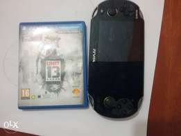 Play station vita with a game