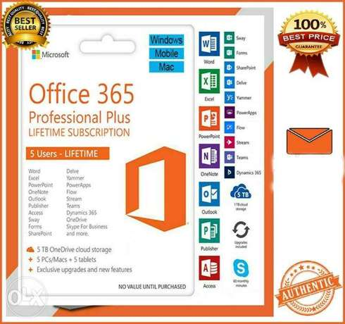 Microsoft Office 365 Plus for Mac and Windows