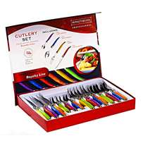 New Royalty Line- 24 Pieces Colorful Cutlery Set