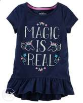 Carter's Blue print top for girls aged 12 to 15 months