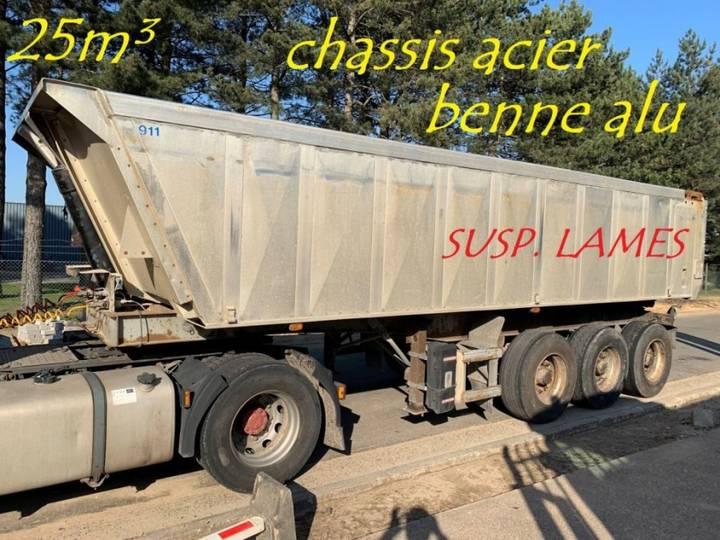 Trailor 25m³ BENNE CLINKER - 3 ESS. SMB - CHASSIS ACIER / BENNE ALU - 1994