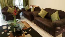 6 Seater Black Couch Set for SALE