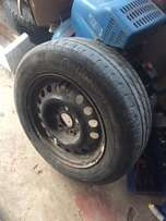 5 x 114 steel rims and tyres 15 inch