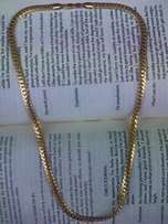 18 karat Gold plated snake Chain,6 MM Wide, 22 inches, brand new.