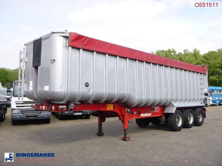 Netam-Fruehauf Tipper trailer alu 52 m3 + tarpaulin - 2007