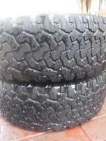 2xBF Goodrich A/T tyres 265/65/17, Still good!!